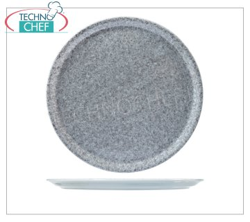 SATURNIA - ASSIETTE À PIZZA - Collection GRIS GRANITE Porcelaine - Plats pour restaurants PLAT À PIZZA 31 cm, Collection NAPLES - GRANITE GREY, marque SATURNIA - Disponible à l'achat en pack de 6