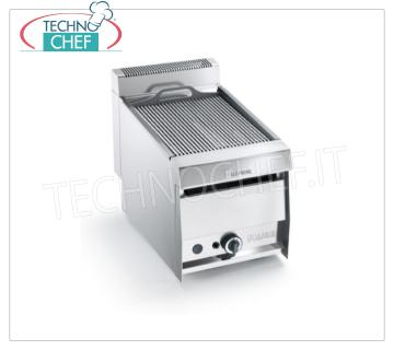 Version GRILL VAPOR GAS TOP, 1 module - ARRIS - Série 700 Version GRILL VAPOR GAS TOP, en acier inoxydable AISI 304, 1 module avec 1 ZONE DE CUISSON de 390x470 mm, complète avec grille à tiges, puissance thermique 10,5 kw, poids 50 kg, dimensions extérieures 420x700x440h mm