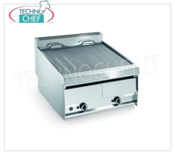 Version GRILL VAPOR GAS TOP, Double Module - ARRIS - SERIE 900 Version GRILL VAPOR GAS TOP, MODULE DOUBLE avec commandes indépendantes avec ZONE DE CUISSON 760x670 mm, complète avec grille à tiges, puissance thermique 26.0 kW, poids 98 kg, dimensions extérieures 800x900x440h mm
