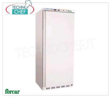 Forcar - 1 Door Fridge Cabinet, lt.570, Static, Temp. + 2 ° / + 8 ° C, Class C, model G-ER600 Armoire de réfrigération 1 porte, Professional, structure externe en plaque blanche, interne en ABS, lt.570, Temp. + 2 ° / + 8 ° C, ÉCOLOGIQUE en Classe C, Gaz R600a, Statique avec ventilateur interne, V.230 / 1 , Kw.0,185, Poids 90 Kg, dim.mm.777x695x1895h