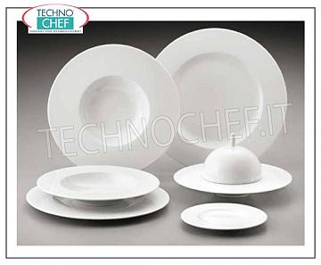 GREEN COAST - Porcelaine pour restaurant PLATS, Collection Saturno Bianco, Marque COSTA VERDE