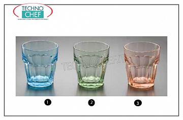 Verres colorés VERRE BLEU CLAIR ROCKS, BORMIOLI ROCCO, Collection Rock Bar Lounge empilable trempé