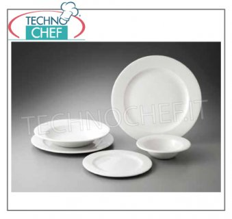 CHURCHiLL - Porcelaine pour restaurant - Collection WHITE PROFILE PLAQUES, Collection Profile White, Marque CHURCHiLL
